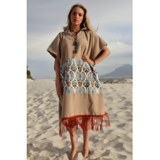 Beach poncho Mexican and rust