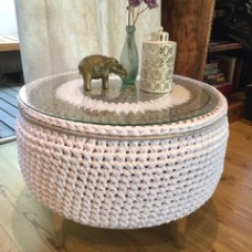 Tyre ottoman side table