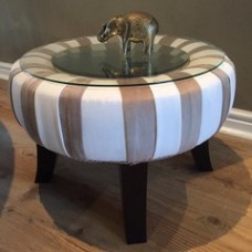 Mirror and glass side table